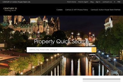 website of Century 21 Action Power Team Brokerage for Real Estate - Brokers and Agents