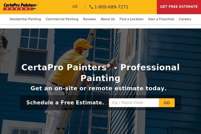 website of Certapro Painters for Painting Contractors
