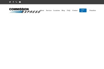 website of Commission Express for Banks and Credit Unions