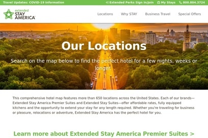 website of Extended Stay America Hotel for Hotels Motels and Lodging