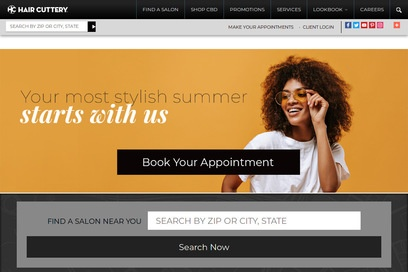 website of Hair Cuttery for Hair Salons and Barbers