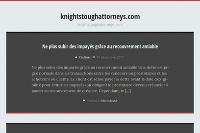 website of Knight and Stough Llp for Legal Services