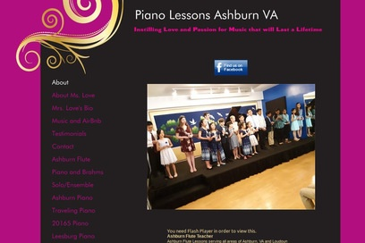 website of Loves Music Lessons for Entertainers and Entertainment