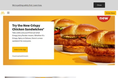 website of Mcdonalds for Restaurants