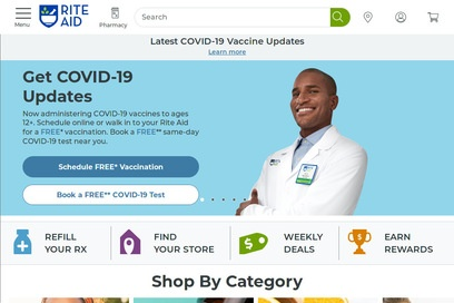website of Rite Aid for Pharmacies