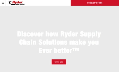 website of Ryder Truck Rental and Leasing for Commercial and Industrial Vehicles and Machinery