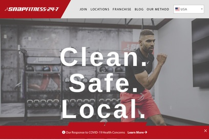 website of Snap Fitness for Health and Fitness Clubs