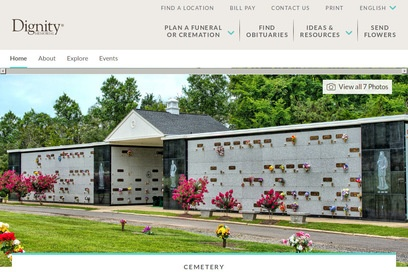 website of Stonewall Memory Gardens for Museums and Zoological Gardens
