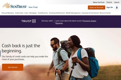 website of Suntrust Bank for Computer Contractors