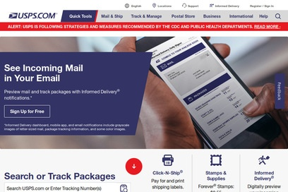website of United States Postal Service for Telecommunications Equipment and Services
